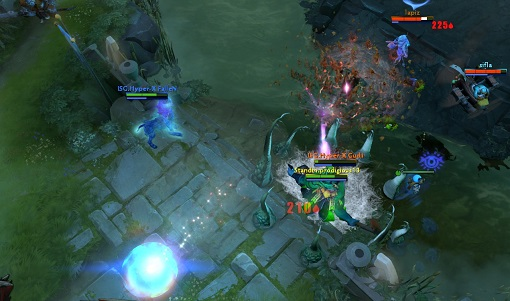 Gudii barely pulls off the Tide ult before dying, salvaging the engagement.